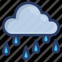 metrology, nature, overcast, raincloud, rainy day, weather forecast icon