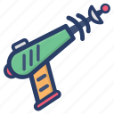 futuristic gun, shoot gun, space astronomy, space gun, space weapon, war weapon icon