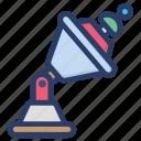 direction finding, radar, satellite dish, space radar, tracking system icon