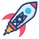 astronomy, planetary system, rocket, scapecraft, science equipment, space, spaceship icon