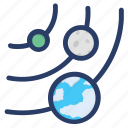 astronomy, orbit, planet, planetary system, science, space, spiral galaxy icon