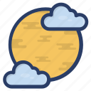 space, space view, telescope view, universal view, weather icon