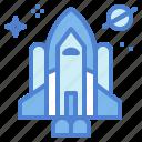 galaxy, rocket, ship, shuttle, space