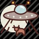 abduction, alien, fantasy, science, world icon