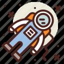 astronaut, fantasy, science, world icon