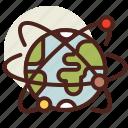 earth, fantasy, satelites, science, world icon