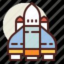 fantasy, raket, science, world icon