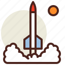 fantasy, lunch, rocket, science, world icon