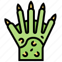 alien, fingers, hands, monster, scary icon