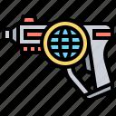 battle, blaster, gun, laser, weapon icon