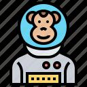 astronaut, chimpanzee, experiment, monkey, space icon