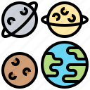 earth, planets, solar, space, system icon