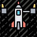 exploration, launch, rocket, shuttle, space icon