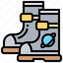 astronaut, boots, footwear, protection, space icon