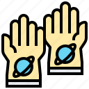 astronaut, gloves, hands, protection, space icon