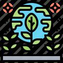 alien, colonization, earth, plants, space icon