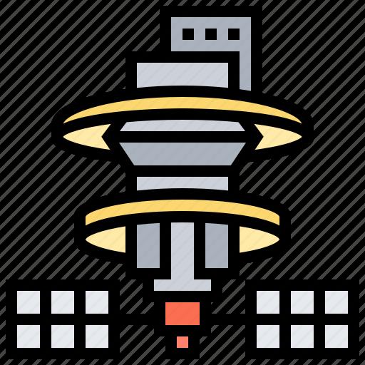 astronomy, orbit, satellite, space, spaceship, station icon