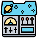 console, control, dashboard, panel, spaceship icon
