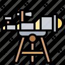 astronomy, grazer, observer, stars, telescope icon