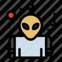 alien, planet, space icon