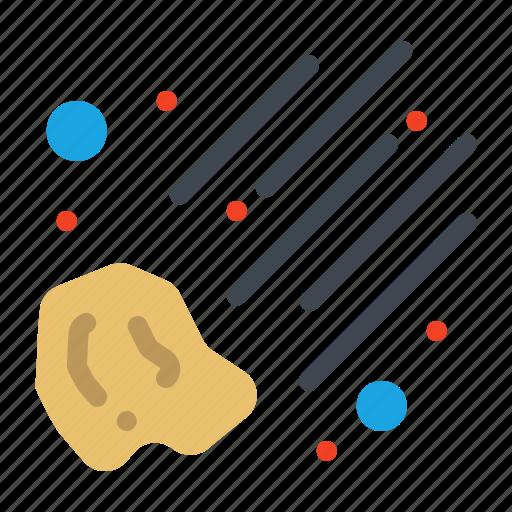 meteor, meteorite, space icon