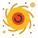 astronomy, black, hole, planet icon