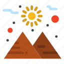 planet, space, sun icon