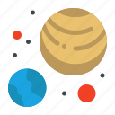 astronomy, galaxy, planets icon