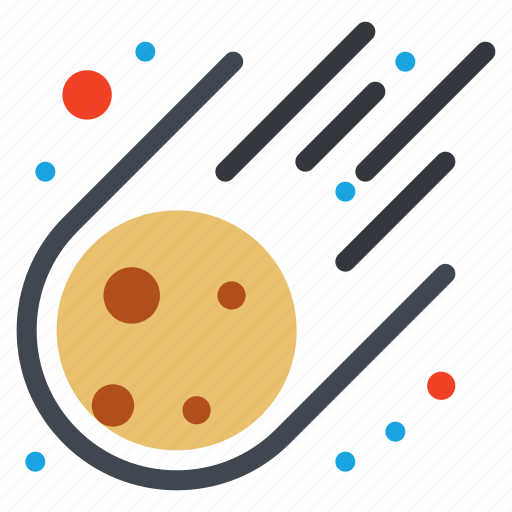 asteroid, meteorite, space icon
