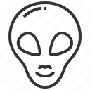 alien, head, human, profile, space icon