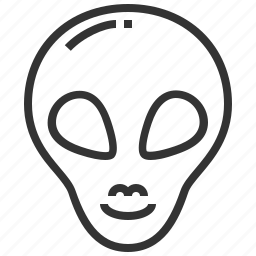alien, head, human, profile, space icon