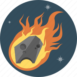 fire, meteor, space icon