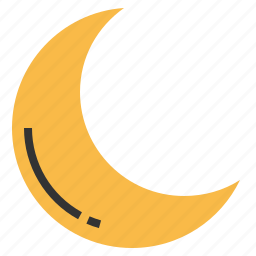crescent, lunar, moon, space icon