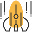 astronomy, planet, rocket, space, spaceship icon