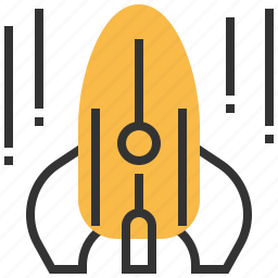 astronomy, planet, rocket, space, spaceship icon