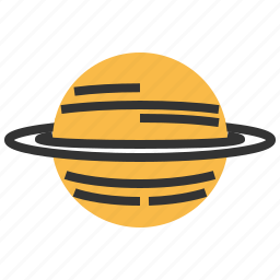 astronomy, planet, saturn, space, spaceship icon