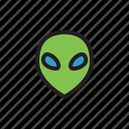 alien, alien head, aliens, monster, space, ufo icon