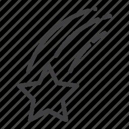 falling, star icon