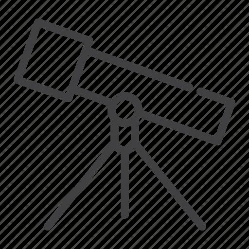 astronomy, telescope icon