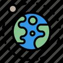 earth, moon, orbit, space