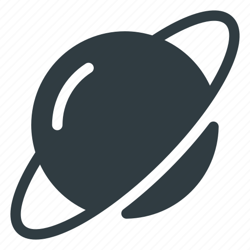 planet, ring, saturn, solar, space, system icon