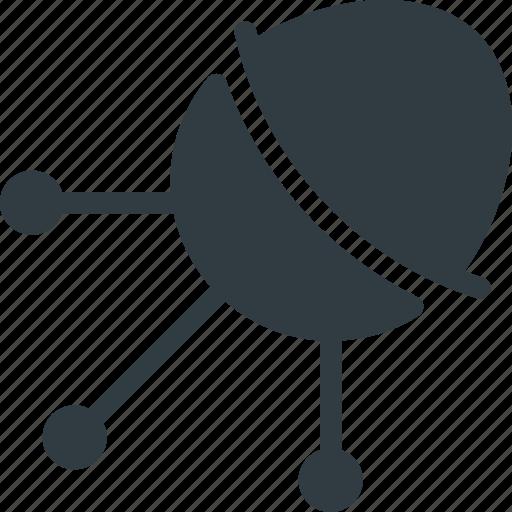 antenna, exploration, orbit, radar, satellite, signal, space icon