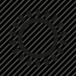 space, sun icon