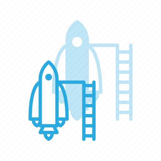 exploration, mission, rocket, space, spacesip icon