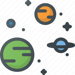 astronomy, galaxy, planet, solar, star, system, universe icon