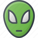 alien, cosmos, fiction, space, visitor icon