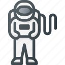 astronaut, cosmonaut, exploration, gravity, science, space, spaceman icon