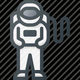 astronaut, cosmonaut, exploration, gravity, science, space, spaceman icon