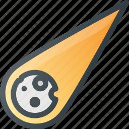 astronomy, comet, cosmos, fireball, meteor, space icon