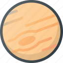 jupiter, planet, ring, solar, space, system icon